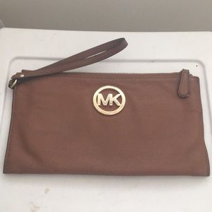 Soft Leather Michael Kors Clutch